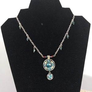 Aqua Medallion Necklace